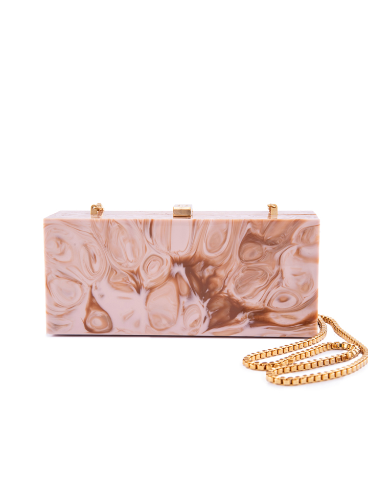 Nude Marble Clutch