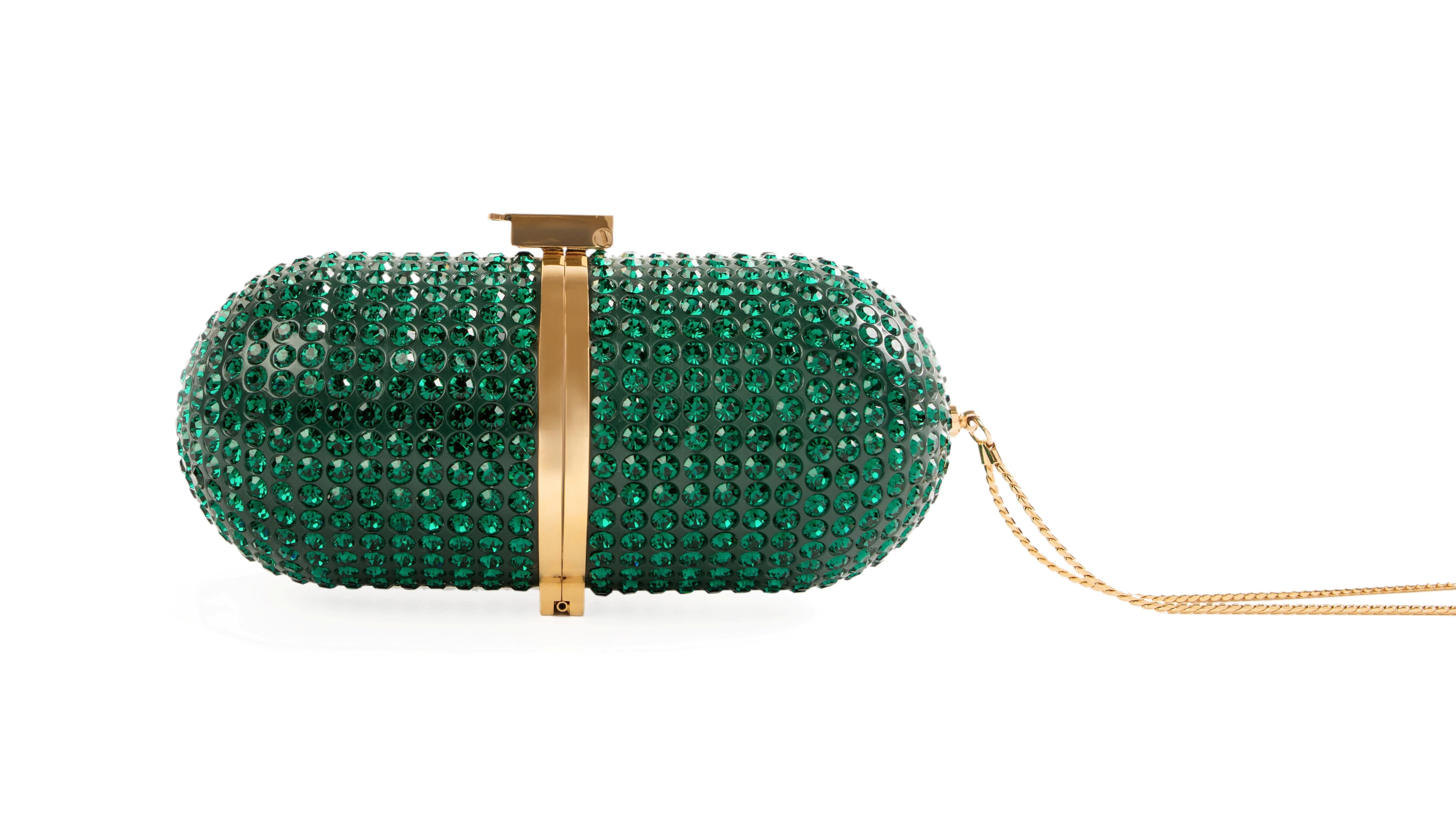 Pill Bag (Emerald Crystals)