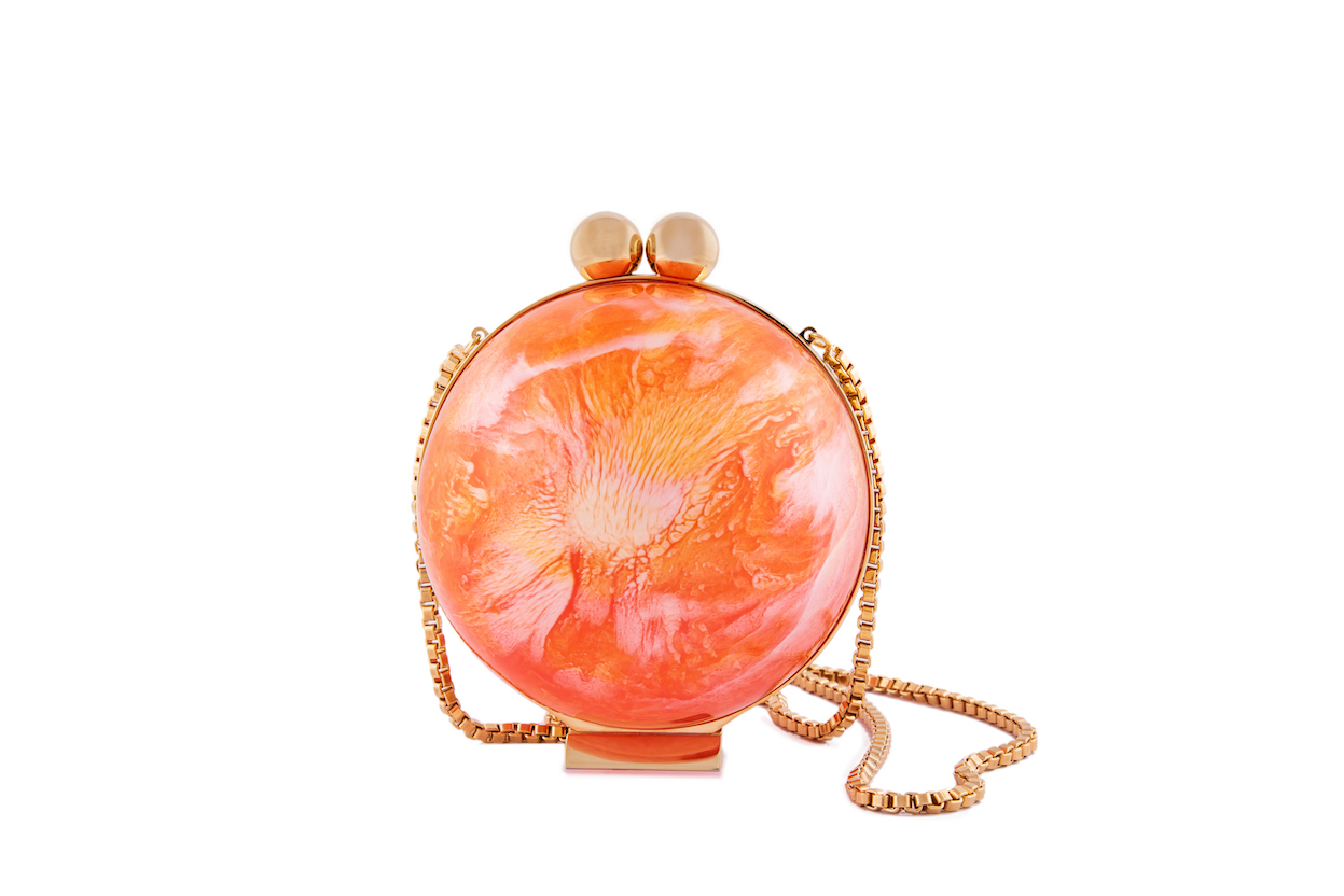 Orange Marble Orb (Preorder)