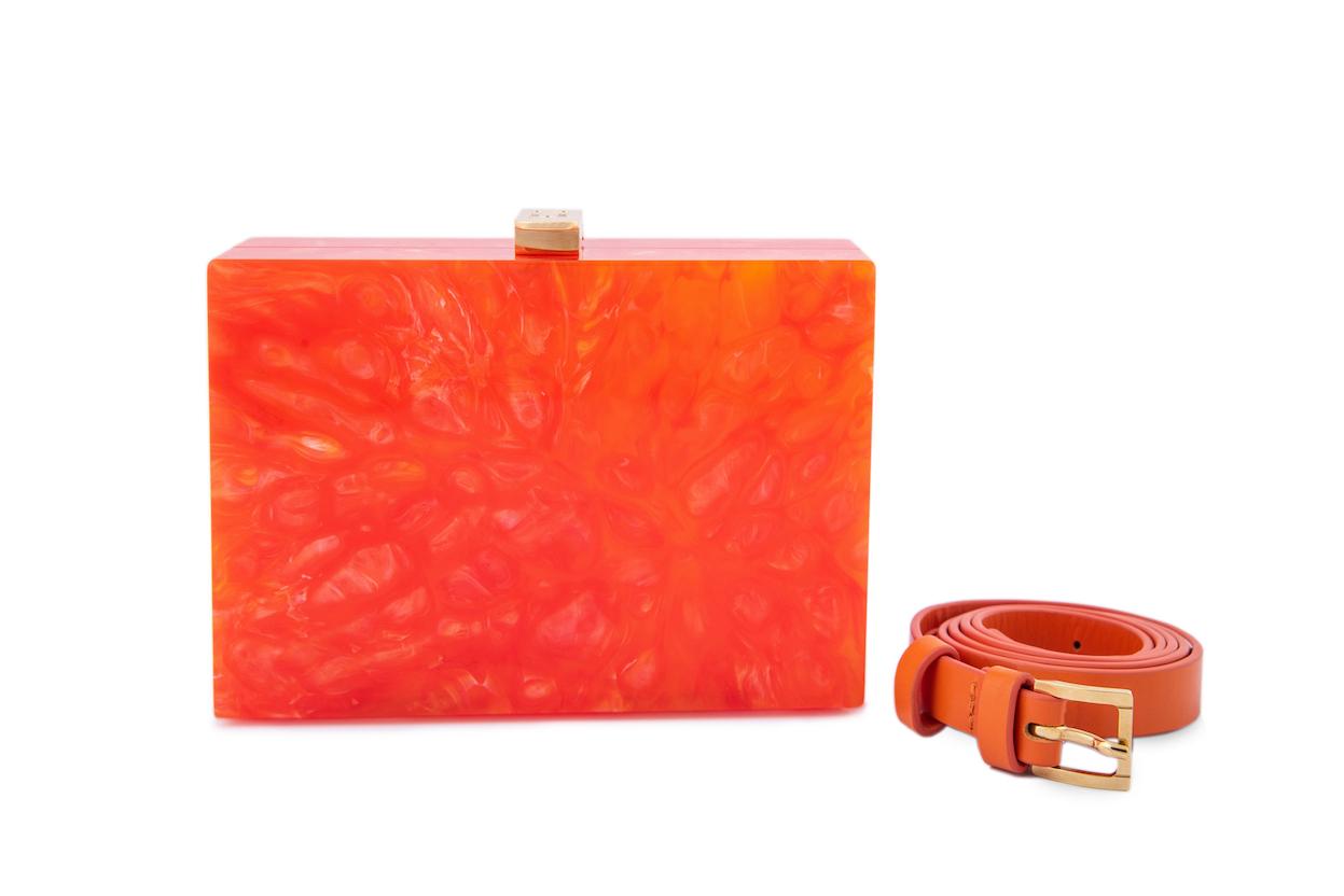 Orange Marble Horizontal Capsule (Preorder)
