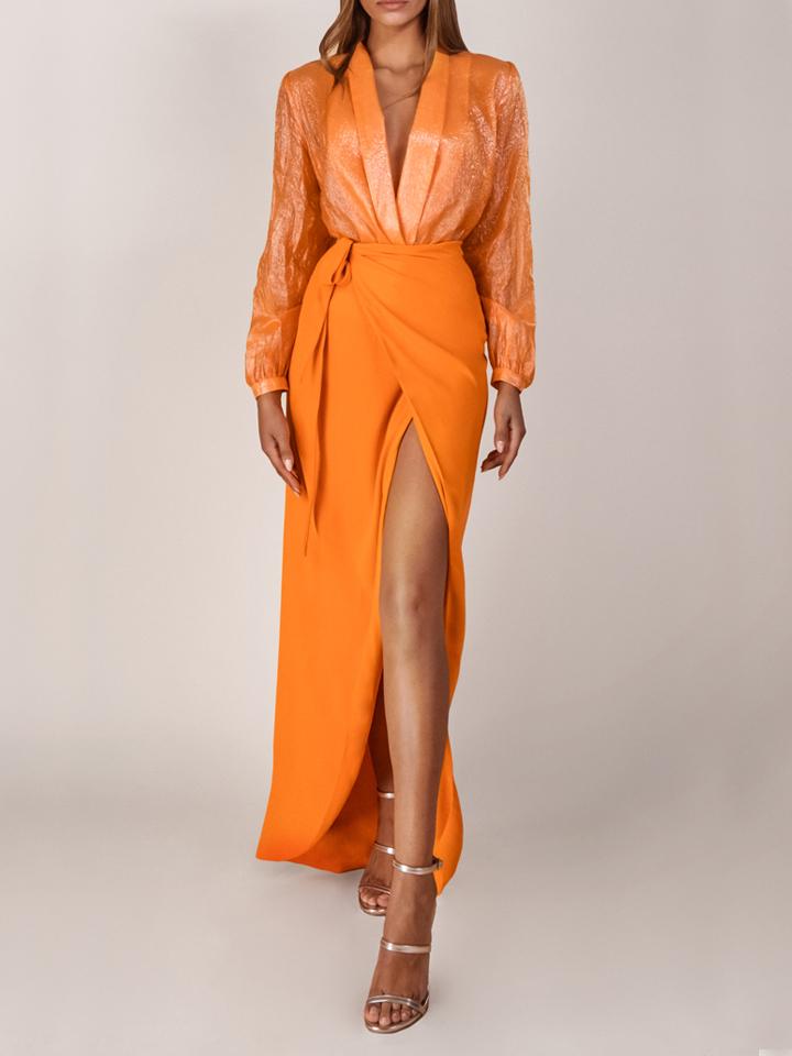 Blazer Top / Wrap Skirt