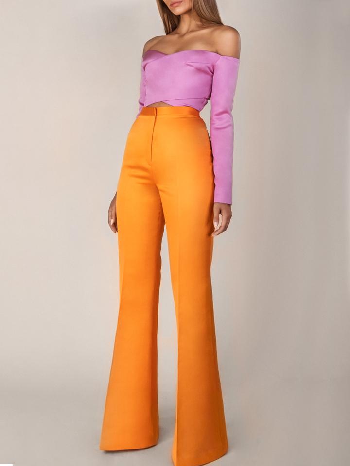 X Crop Top /Flared Pants
