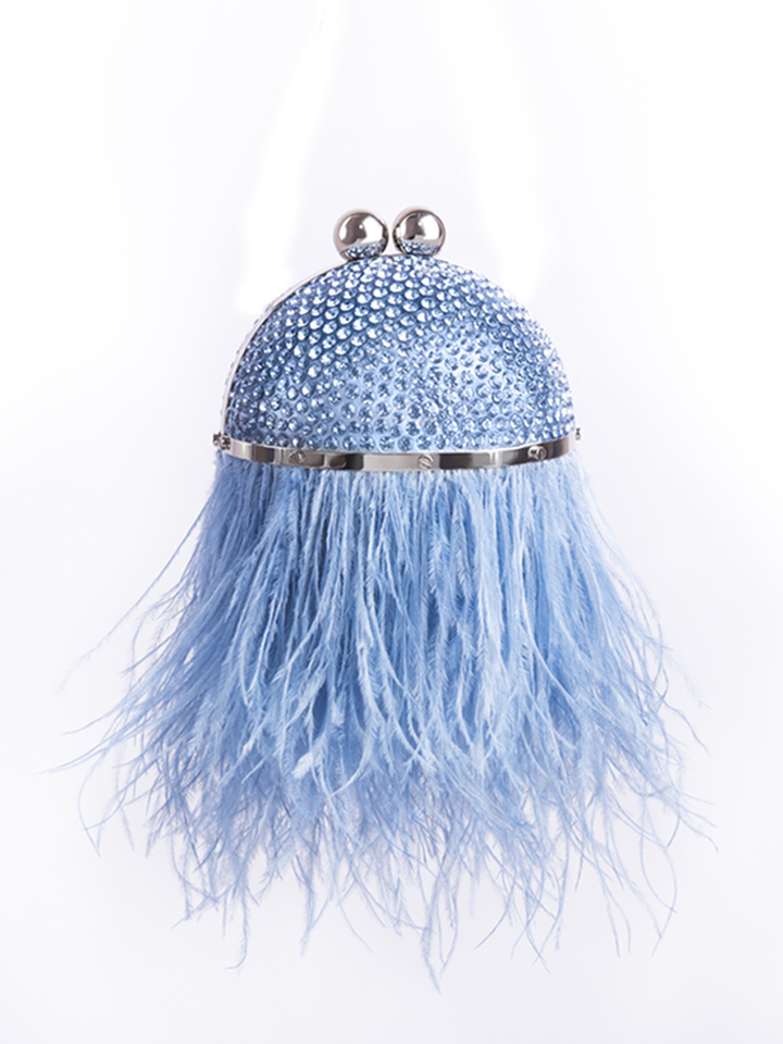 Mini Feather Orb-Blue