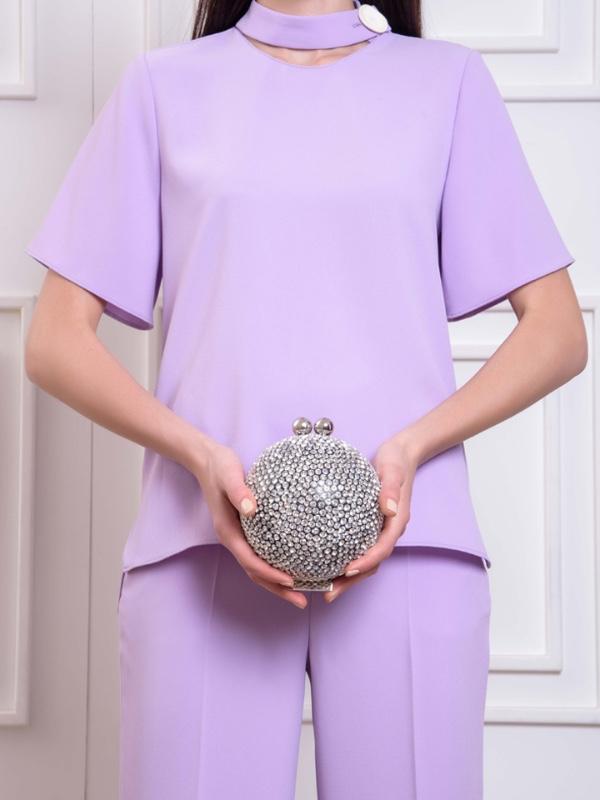 Crystal Ball -Silver Hardwear